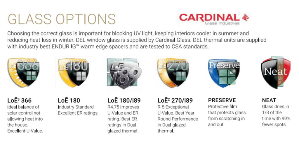 Cardinal Glass Options